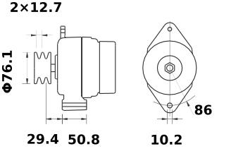Генератор AAK5304 (MG 83, 11.201.997, IMA301997) - схема