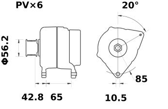 Генератор AAK5395 (IA1069) - схема