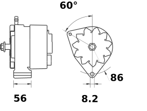 Генератор AAK4320 (MG 314, 11.203.331, IMA303331) - схема