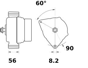 Генератор AAK5564 (IA1083) - схема