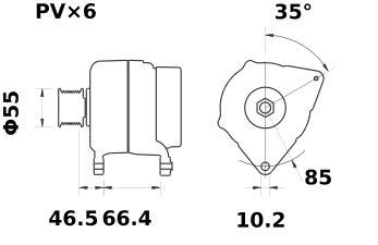 Генератор AAK5521 (MG 325, 11.203.227, IMA303227) - схема