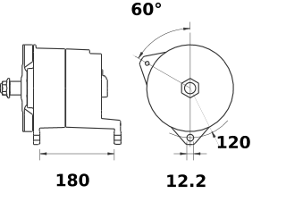 Генератор AAT1327 (MG 323, 11.203.229, IMA303229) - схема