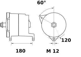 Генератор AAT1338 (MG 128, 11.203.240, IMA303240) - схема