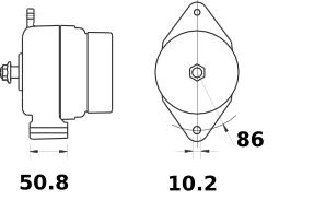 Генератор AAK5570 (MG 200, 11.203.401, IMA303401) - схема