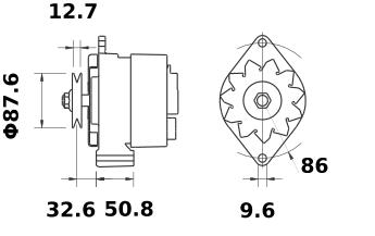 Генератор AAK4305 (MG 316, 11.203.264, IMA303264) - схема