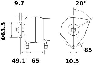 Генератор AAK5530 (MG 301, 11.203.272, IMA303272) - схема