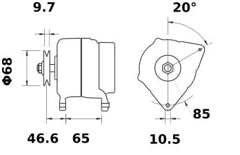Генератор AAK5536 (MG 338, 11.203.285, IMA303285) - схема