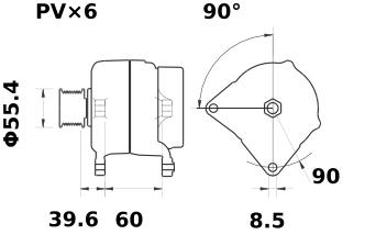 Генератор AAK5547 (IA1142) - схема