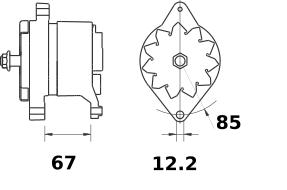 Генератор AAK3166 (MG 540, 11.203.298, IMA303298) - схема