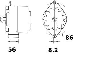 Генератор AAK4321 (IA1154) - схема
