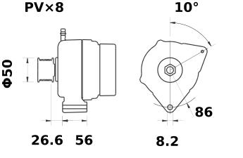Генератор AAK5533 (IA1161) - схема