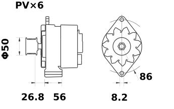 Генератор AAK4318 (MG 332, 11.203.321, IMA303321) - схема