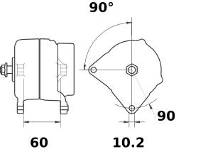 Генератор AAK5875 (MG 134, 11.204.849, IMA304849) - схема