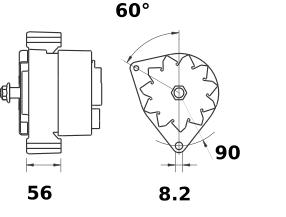 Генератор AAK4357 (MG 335, 11.203.439, IMA303439) - схема