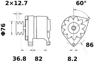 Генератор AAK4339 (IA1185) - схема