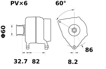 Генератор AAK5549 (MG 306, 11.203.328, IMA303328) - схема