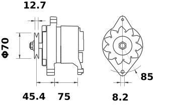 Генератор AAK4301 (MG 221, 11.203.256, IMA303256) - схема