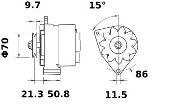 Генератор AAK4352 (MG 309, 11.203.416, IMA303416) - схема