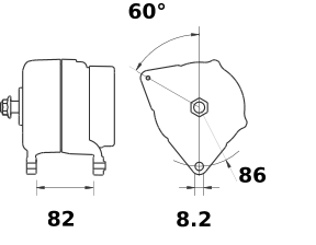 Генератор AAK5580 (IA1204) - схема