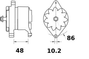 Генератор AAK1813 (MG 508, 11.203.658, IMA303658) - схема
