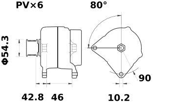 Генератор AAN5322 (MG 31, 11.204.163, IMA304163) - схема