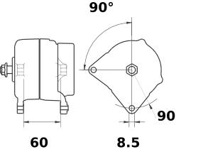 Генератор AAK5706 (IA1256) - схема