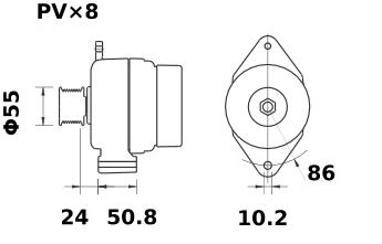 Генератор AAK5581 (MG 561, 11.203.434, IMA303434) - схема