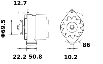 Генератор AAK4803 (11.204.318, IMA304318) - схема