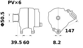 Генератор AAK5701 (11.203.527, IMA303527) - схема