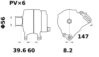 Генератор AAK5702 (MG 367, 11.203.528, IMA303528) - схема