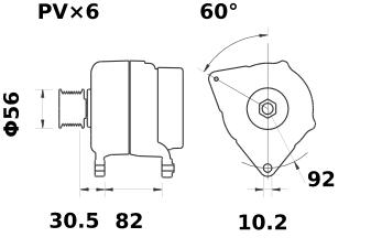 Генератор AAN5321 (MG 34, 11.204.162, IMA304162) - схема