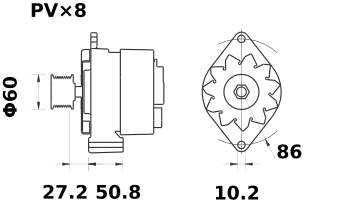 Генератор AAK4831 (MG 483, 11.204.396, IMA304396) - схема