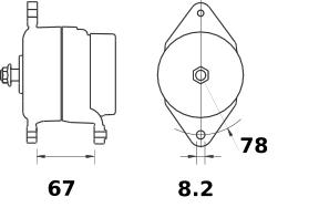 Генератор AAG5135 (MG 75, 11.204.098, IMA304098) - схема