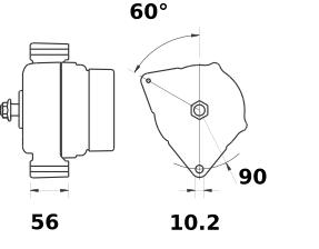 Генератор AAK5761 (MG 182, 11.203.828, IMA303828) - схема