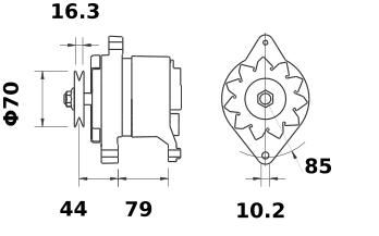 Генератор AAK1878 (IA1351) - схема