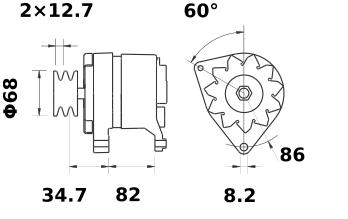 Генератор AAK1835 (IA1358) - схема