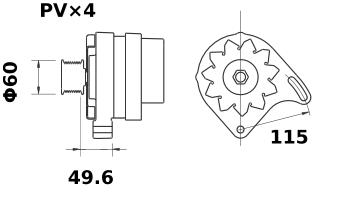Генератор AAK1833 (IA1374) - схема