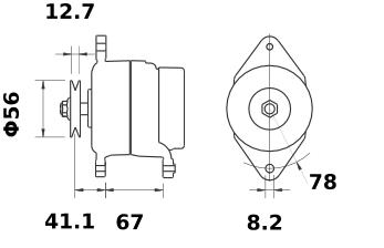Генератор AAG5119 (MG 566, 11.203.767, IMA303767) - схема