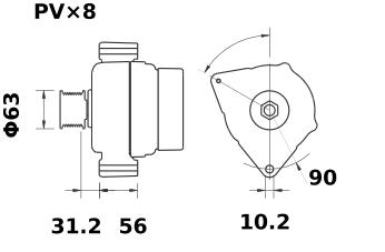 Генератор AAK5578 (IA1403) - схема