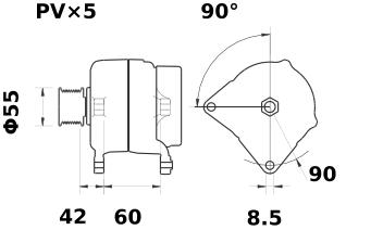 Генератор AAK5773 (IA1414) - схема