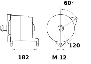 Генератор AAT1379 (MG 92, 11.203.697, IMA303697) - схема