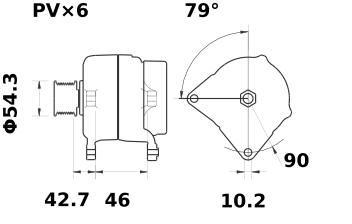 Генератор AAN5323 (MG 11, 11.204.164, IMA304164) - схема