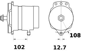 Генератор AAT3312 (MG 78, 11.204.021, IMA304021) - схема
