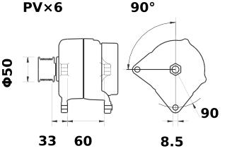Генератор AAK5788 (IA1434) - схема