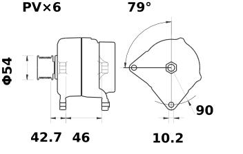 Генератор AAN5349 (MG 66, 11.204.190, IMA304190) - схема