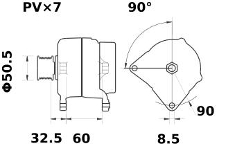 Генератор AAK5791 (MG 76, 11.204.026, IMA304026) - схема