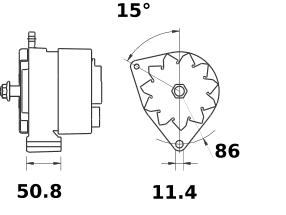 Генератор AAK3830 (IA1450) - схема