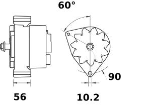Генератор AAK4990 (MG 165, 11.204.779, IMA304779) - схема