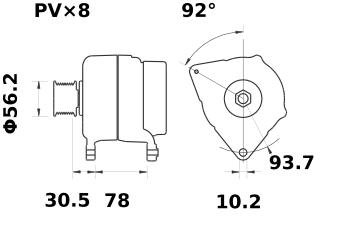 Генератор AAK5840 (MG 23, 11.204.467, IMA304467) - схема