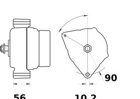 Генератор AAN5869 (MG 467, 11.204.502, IMA304502) - схема